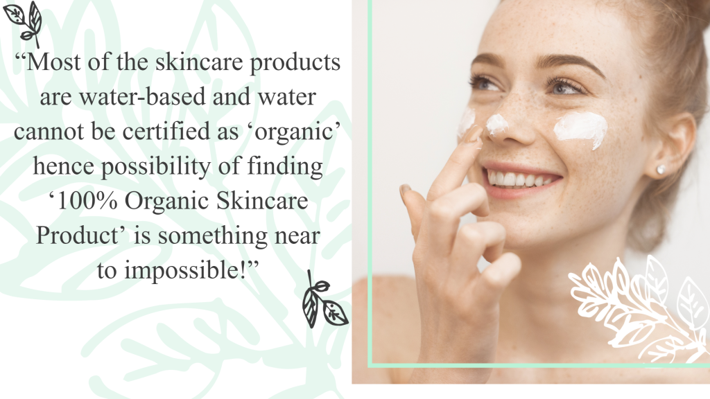 Natural Vs Organic Skin Care products